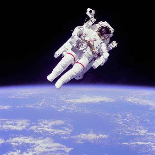 The average space suit today costs $12 million. That's enough money buy every person living in Orlando, FL a pair of moon shoes.