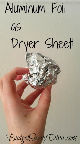 Place a ball of aluminum foil in the dryer with your wet clothes. You can reuse it many, many times and it will remove static cling.