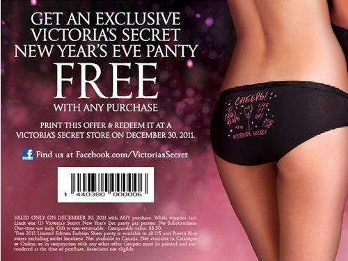 Sure, you'll get an annoying catalog every week, but you'll also get a coupon for a FREE PANTY every month. Never buy underwear again!