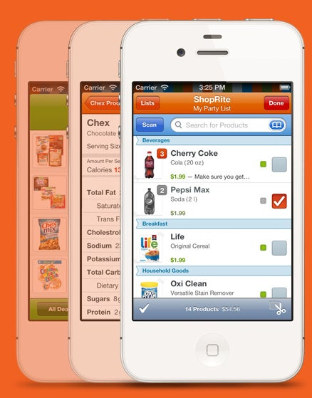 Scan any item using a free app called Pushpin and automatically save with digital coupons.