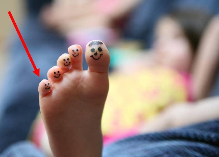 Your littlest toe.