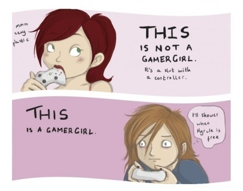 how should a gamer girl be
