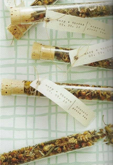 Test Tubes Filled with Tea