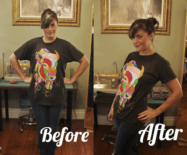 14 cute diys to make an old band t shirt cool again for Making band t shirts