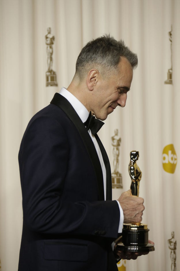 If Oscar were looking for a different kind of show, one that's more introspective, thoughtful...slower...moving, having Daniel Day-Lewis look America straight in the eye and hypnotize us into sitting down and just...considering...what...it's all about...might just be the national moment of meditation this country needs. As he showed last night, he's got the charm and the dignity to spare. So why not have him take us on a very cerebral voyage?