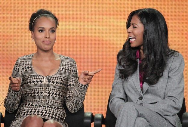 Scandal's Kerry Washington and Co-Executive Producer (and inspiration for the series) Judy Smith at a panel in L.A.