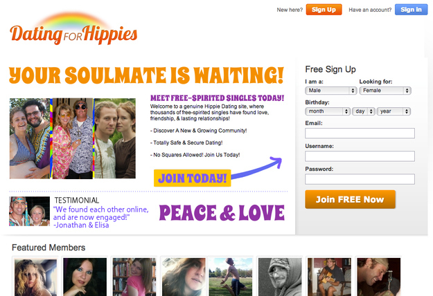 Online dating for hippies