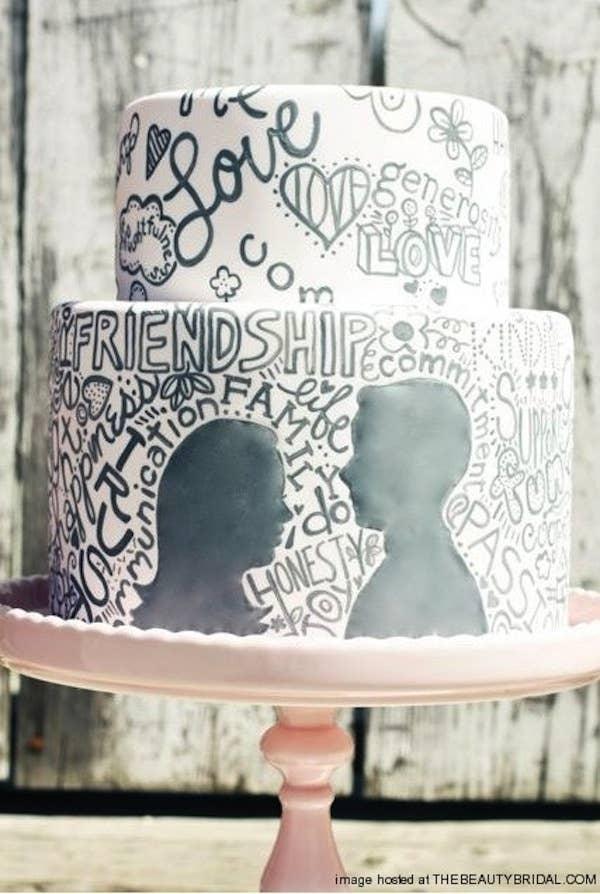 tarta de bodas de graffiti