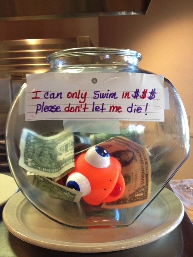 21 incredibly effective tip jars for Cool money jars