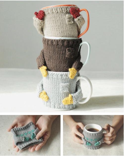 Knit a mug hug sweater.
