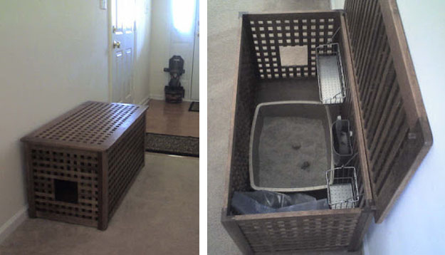 view this image cat litter box furniture diy