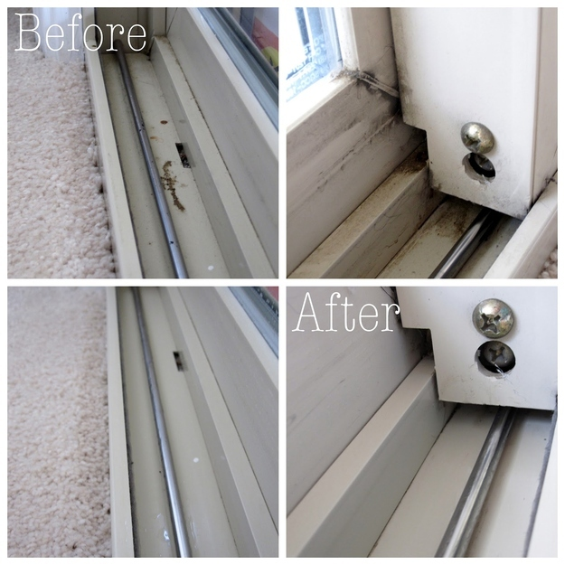 Don't miss the tiny spots, like the tracks on sliding doors or window panes.
