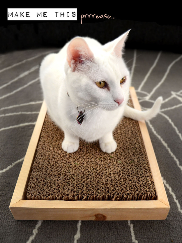 And this scratcher will give your cat's nails a workout.