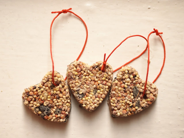 Show your bird you care with these heart-shaped treats.