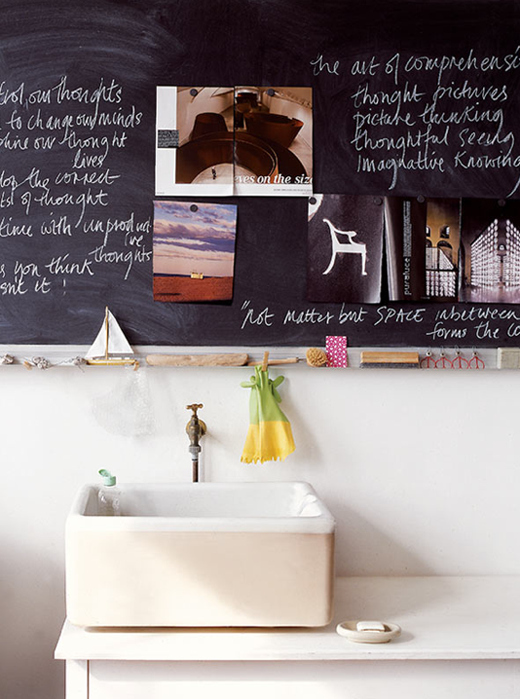 Replace the mirror with a chalkboard.
