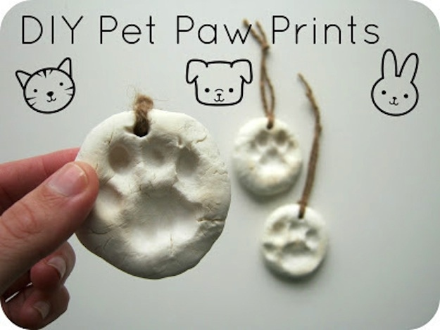 Show your little guy how deeply you love him by inscribing his paw prints in clay.