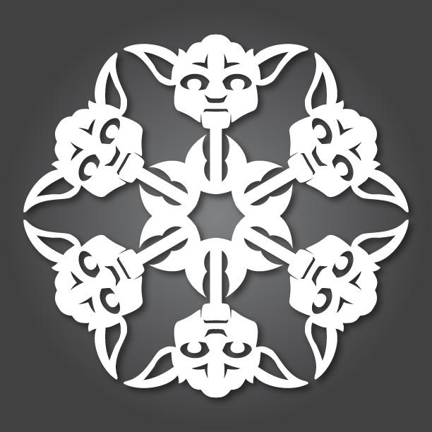 18. Star Wars Snowflakes