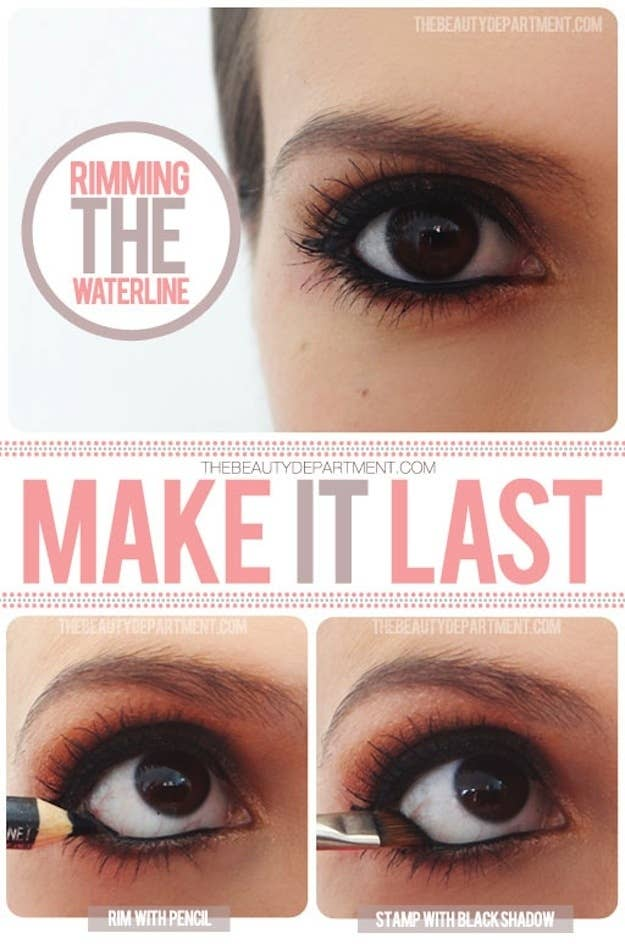 Keep Your Waterline Eyeliner From Running Or Disappearing During The Day