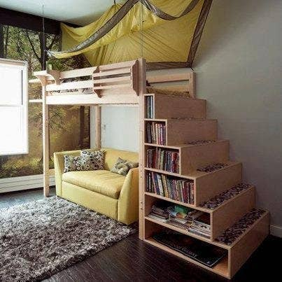 Not Only Do These Stairs Seem Sturdier And Less Scary Than Most Loft Bed