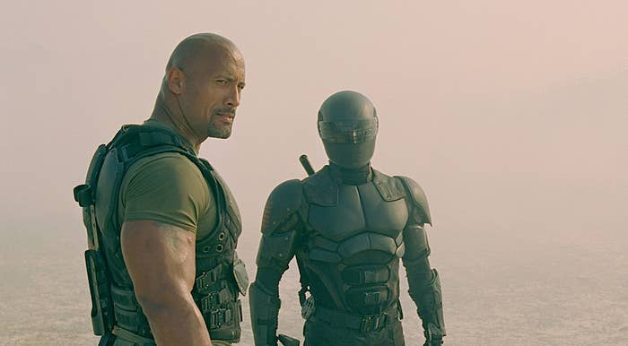 "Dwayne ""The Rock"" Johnson and Ray Park in G.I. Joe: Retaliation"