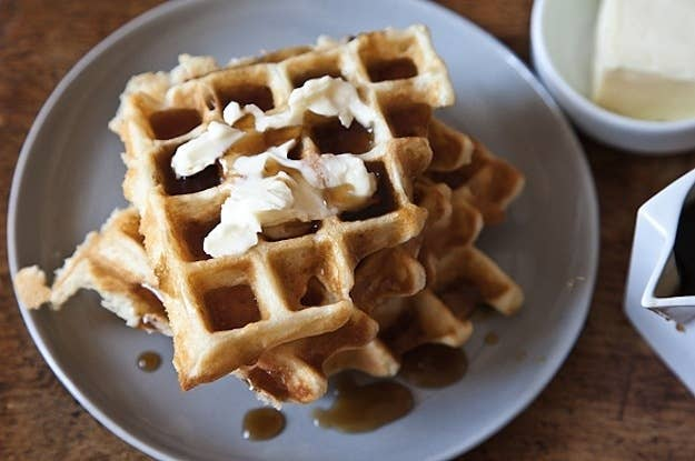 This is a pretty perfect go-to recipe that's easy to throw together when an irresistible desire for waffles strikes you.