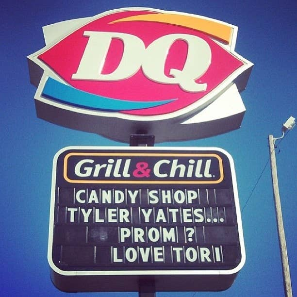 24 creative ways to ask someone to prom 12 with help from dairy queen ccuart Image collections