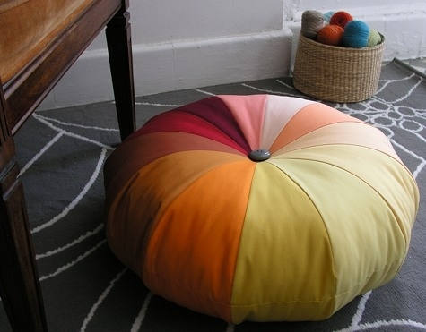 Sew some big, colorful floor cushions.
