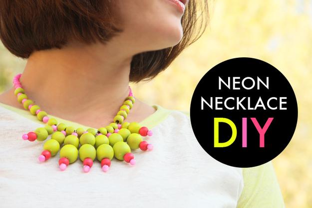 Neon Beaded Necklace