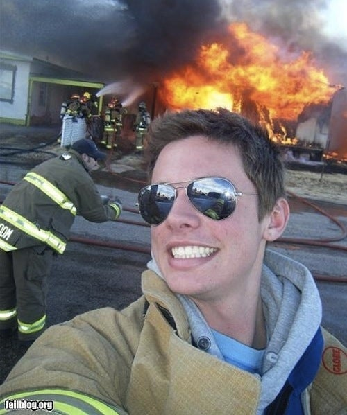 The photogenic firefighter.