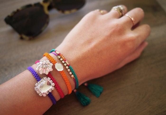 Before friendship bracelets were stacked with beautiful bling...