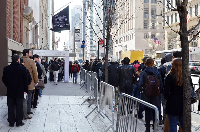 Even at 8:30 a.m., lines stretched down 57th Street.