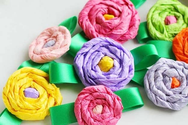 17 easy emergency mothers day crafts for kids or make mom a pretty tissue paper flower corsage mightylinksfo Images