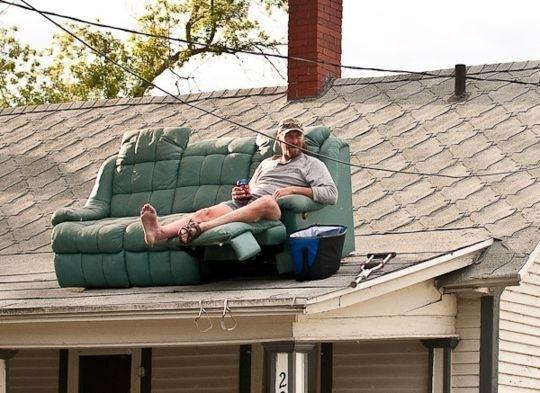 Impromptu Roof Deck