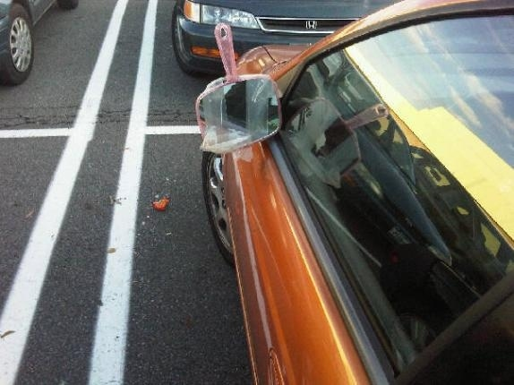 Makeshift Side Mirror