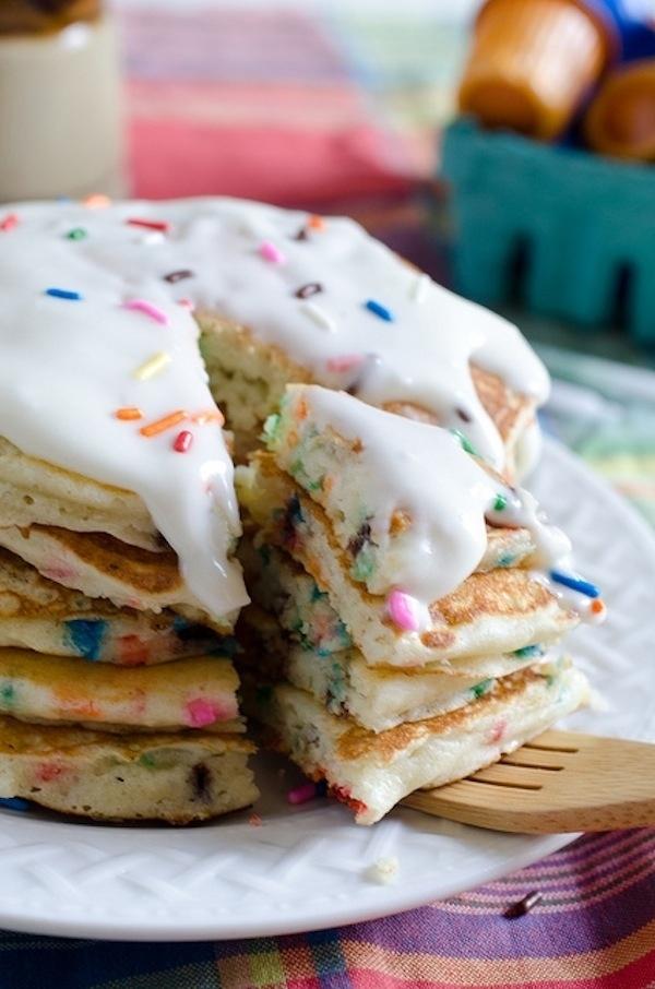 Make pancakes out of cake mix.