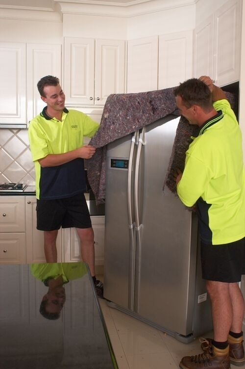 Remember to defrost your refrigerator at least a day before moving and wipe up any liquid.