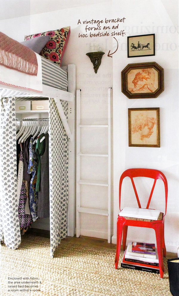 Putting A Closet Underneath A Loft Is A Great Way To Use Vertical Space  Even If