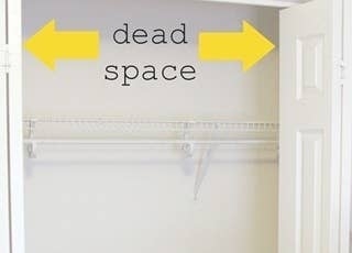 Use the sides of your closet to hang up more rods.