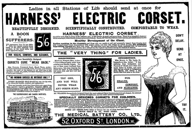 A corset, surging with electricity.
