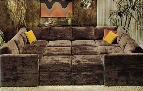 you could make one out of placed couches and ottomans