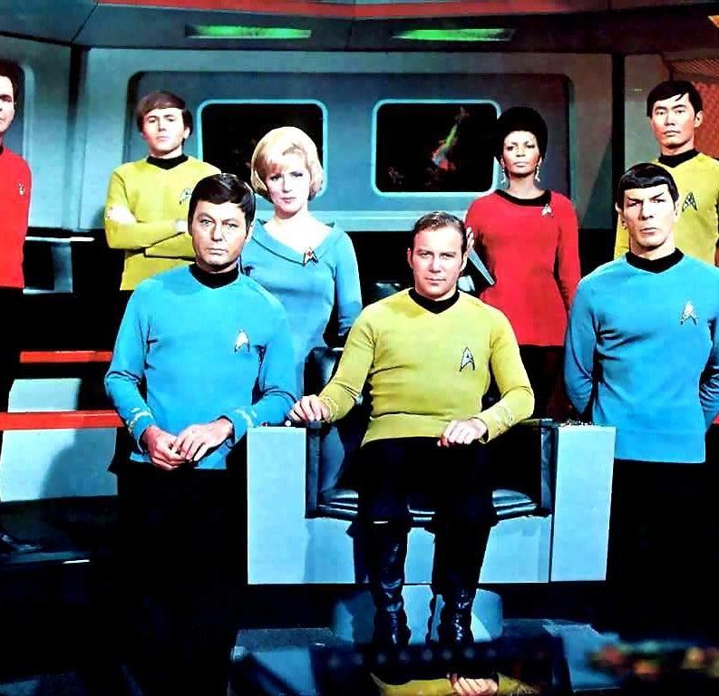 The cast of the Star Trek TV series