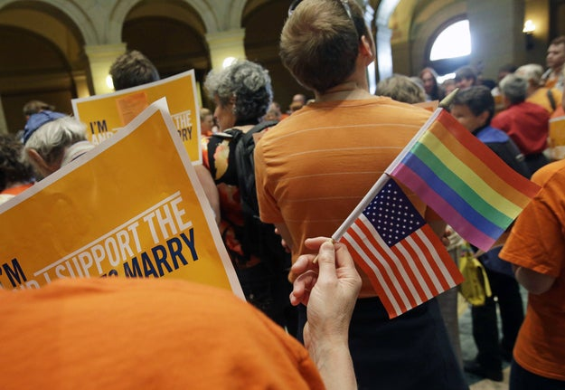 Supporters of same-sex marriage at the Minnesota State Capitol, May 2013.