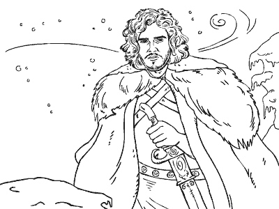 Game of Thrones #6 (TV Shows) – Printable coloring pages | 300x400
