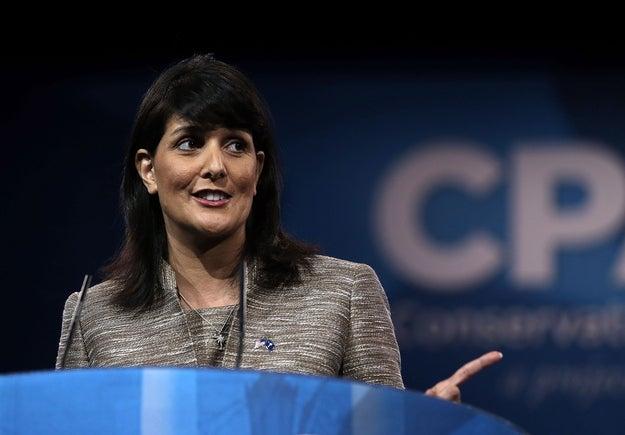 South Carolina Governor Nikki Haley in March.