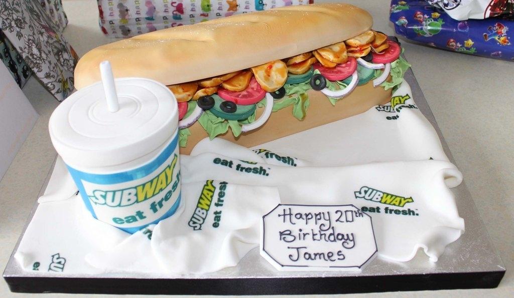 Subway Sandwich Birthday Cake