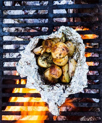 What's more classic than potatoes over a campfire? You'll need your fire kind of hot, though. Recipe here.