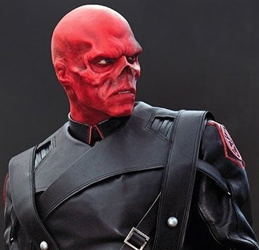As Red Skull in Captain America: The First Avenger