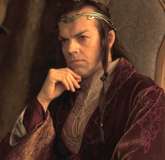 As Elrond in LOTR: The Fellowship of the Ring