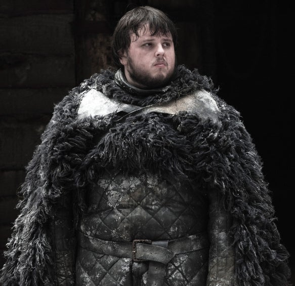 As Samwell Tarly on Game of Thrones