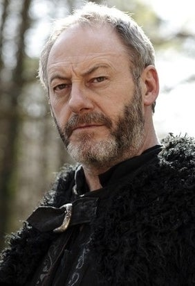 As Davos Seaworth on Game of Thones